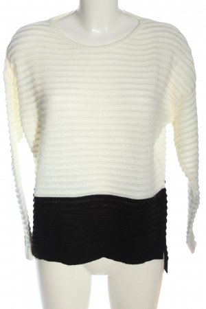 Amy Vermont Maglione lavorato a maglia bianco-nero stile casual
