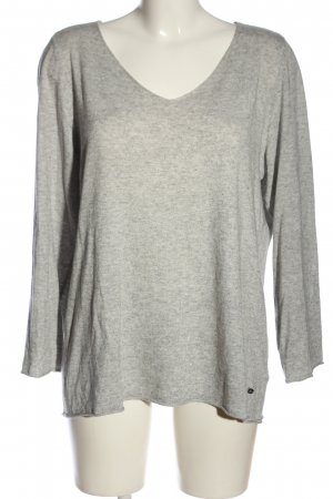 Amy Vermont Knitted Jumper light grey flecked casual look