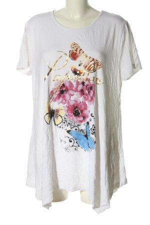Amy Vermont T-shirt blanc motif de fleur style décontracté