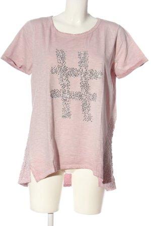 Amy Vermont T-shirt srebrny-stary róż Melanżowy W stylu casual