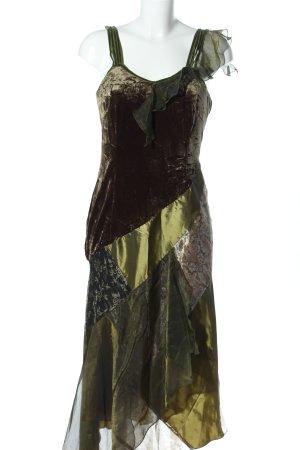 Amy Vermont Trägerkleid khaki-braun Mustermix Glanz-Optik