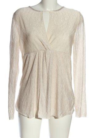 Amy Vermont Transparentna bluzka w kolorze białej wełny W stylu biznesowym