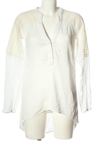 Amy Vermont Transparentna bluzka biały W stylu biznesowym