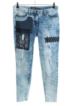 Amy Vermont Treggings blu-nero stile casual