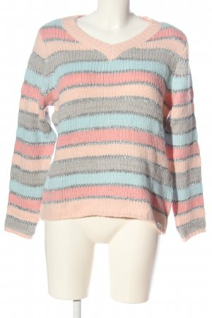 Amy Vermont V-Neck Sweater striped pattern casual look