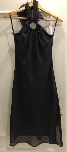 Ange Paris Vestido de cuello Halter negro