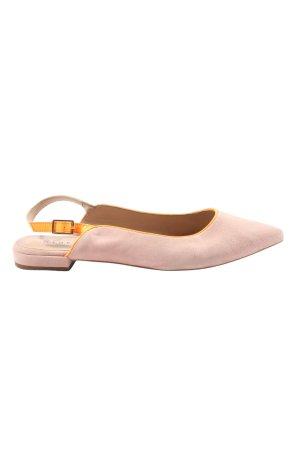 AN OTHER A Ballerine à bride arrière rose-orange clair style décontracté