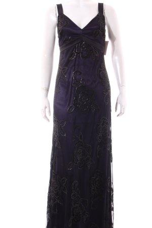 Ana Alcazar Abendkleid schwarz-dunkelviolett Paillettenverzierung