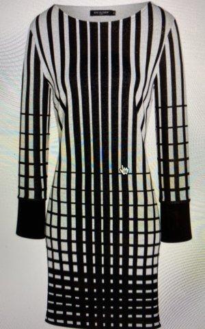 Ana Alcazar Vestido línea A negro-blanco
