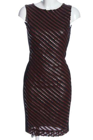 Ana Alcazar Kokerjurk zwart-bruin gestreept patroon casual uitstraling