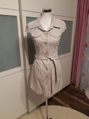 Ana Alcazar Robe chemisier gris brun