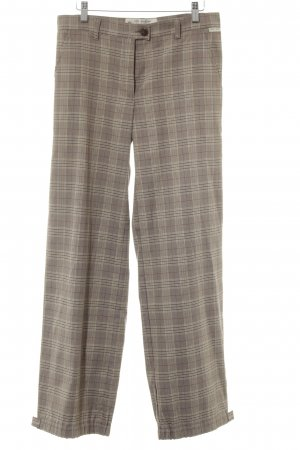 Ana Alcazar Pleated Trousers check pattern business style
