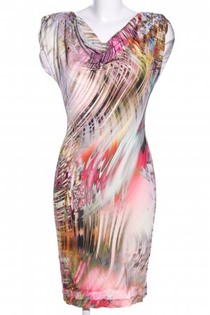 Ana Alcazar Cocktailkleid pink-weiß abstraktes Muster Casual-Look