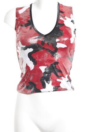 Ana Alcazar Cropped Top Camouflagemuster extravaganter Stil