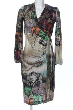 Ana Alcazar Empirekleid grün-bronzefarben Allover-Druck Casual-Look