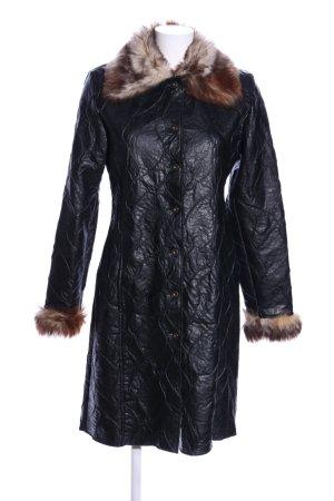 Ana Alcazar Veste en fourrure noir style décontracté