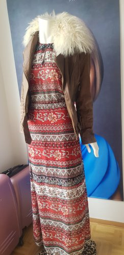 Ana alcazar hippie boho gipsy style Maxikleid pepe lederjacke fell small