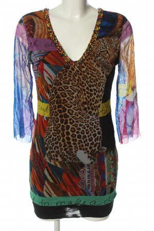 Ana Alcazar Vestido de tela de jersey estampado con diseño abstracto