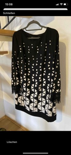 Ana Alcazar Midi-jurk zwart-wit