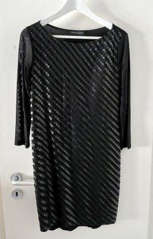 Ana Alcazar Kleid 36 S schwarz Langarm transparent Top Mini