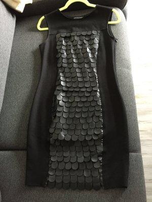 Ana Alcazar Robe fourreau noir viscose