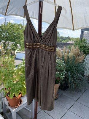 Ana Alcazar Abito scamiciato color cammello-bronzo Raso