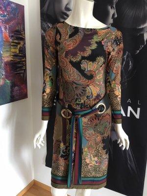 Ana Alcazar Robe à manches longues multicolore