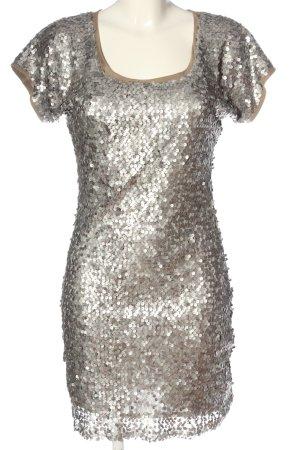Ana Alcazar Jurk met korte mouwen zilver elegant