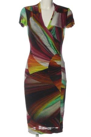 Ana Alcazar Vestido de manga corta estampado con diseño abstracto look casual