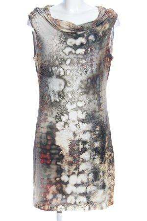 Ana Alcazar Robe à manches courtes gris clair-crème motif abstrait
