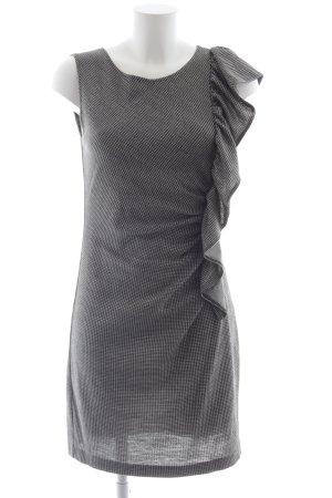 Ana Alcazar Kurzarmkleid schwarz-wollweiß Hahnentrittmuster Brit-Look