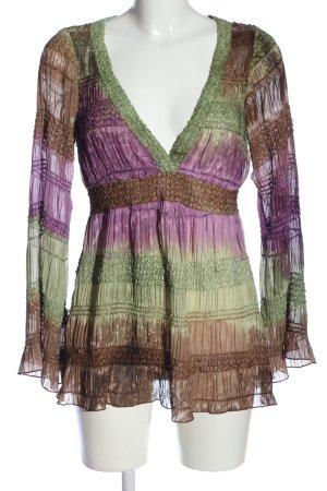 Ana Alcazar Langarm-Bluse mehrfarbig Casual-Look