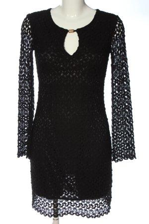 Ana Alcazar Robe à manches longues noir élégant