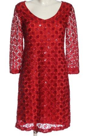 Ana Alcazar Vestido de manga larga rojo elegante