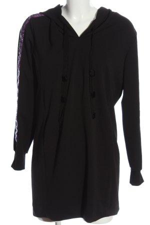Ana Alcazar Sukienka dresowa czarny Wzór w paski W stylu casual