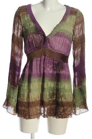 Ana Alcazar Robe à manches longues multicolore style décontracté