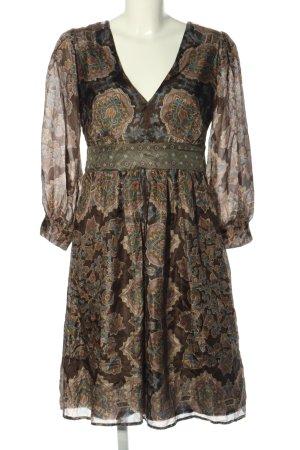 Ana Alcazar Sukienka z długim rękawem Abstrakcyjny wzór W stylu casual