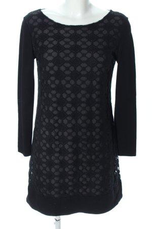 Ana Alcazar Robe à manches longues noir motif graphique style décontracté