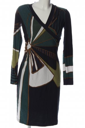 Ana Alcazar Vestido de manga larga estampado con diseño abstracto look casual