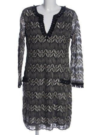 Ana Alcazar Robe à manches longues gris clair imprimé allover