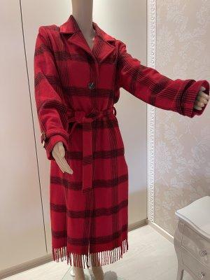 Ana Alcazar Cappotto in lana nero-rosso