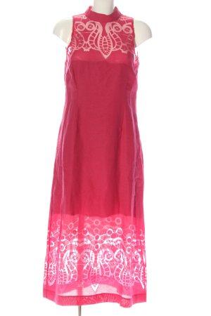 Ana Alcazar Maxi abito rosa motivo astratto elegante
