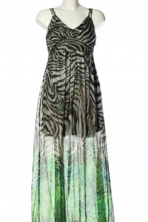 Ana Alcazar Vestido largo estampado con diseño abstracto estilo extravagante