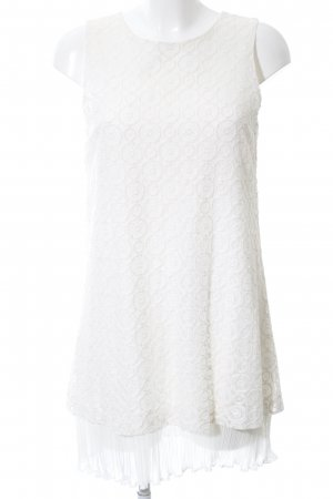 Ana Alcazar Long Top white graphic pattern elegant