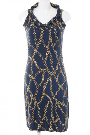 Ana Alcazar Midi Dress blue-gold-colored abstract pattern casual look