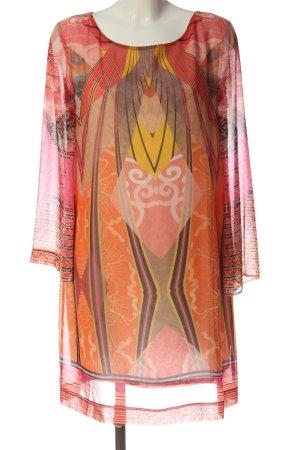 Ana Alcazar Mini Abito arancione chiaro-rosso motivo astratto elegante