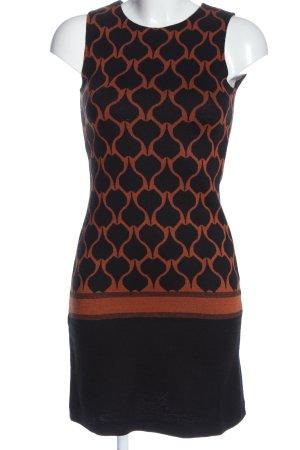Ana Alcazar Mini-jurk zwart-bruin volledige print casual uitstraling