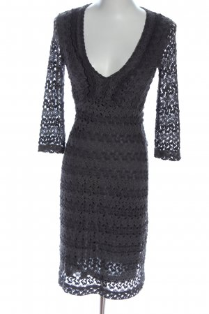 Ana Alcazar Kanten jurk lichtgrijs elegant