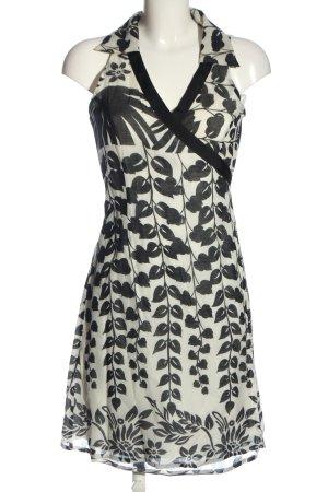 Ana Alcazar Robe courte blanc-noir imprimé allover style décontracté