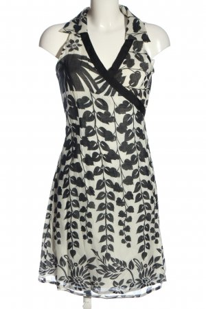 Ana Alcazar Mini-jurk wit-zwart volledige print casual uitstraling